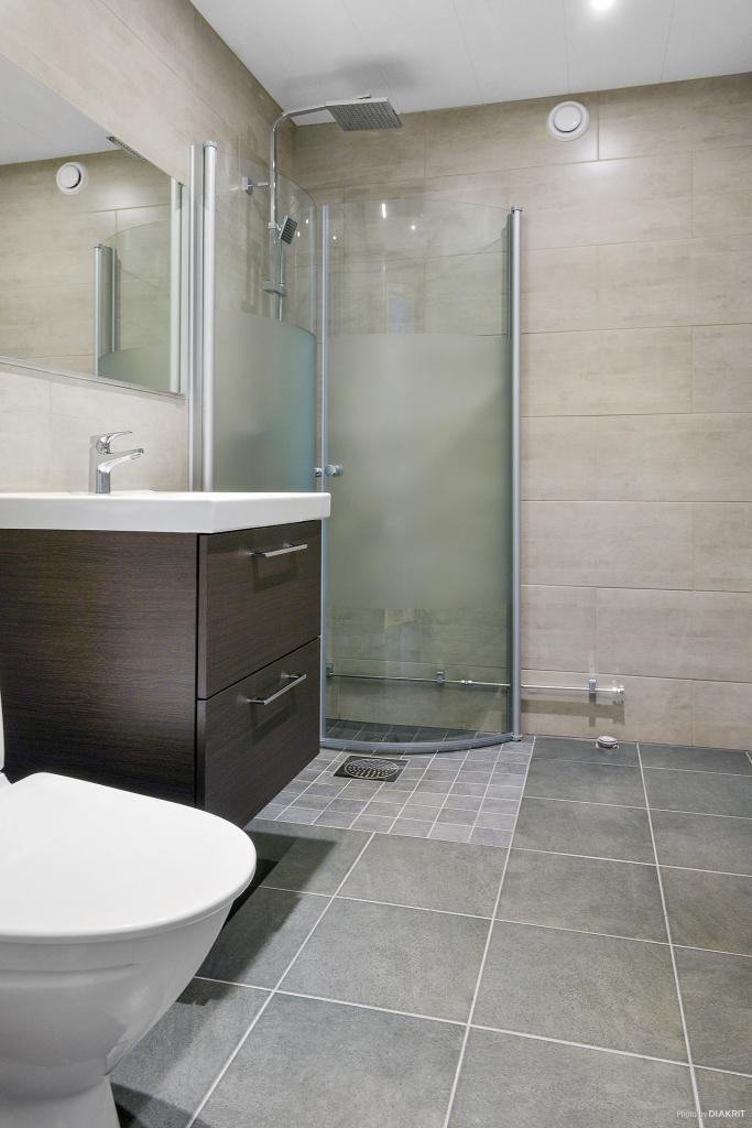 Mycket fint duschrum.