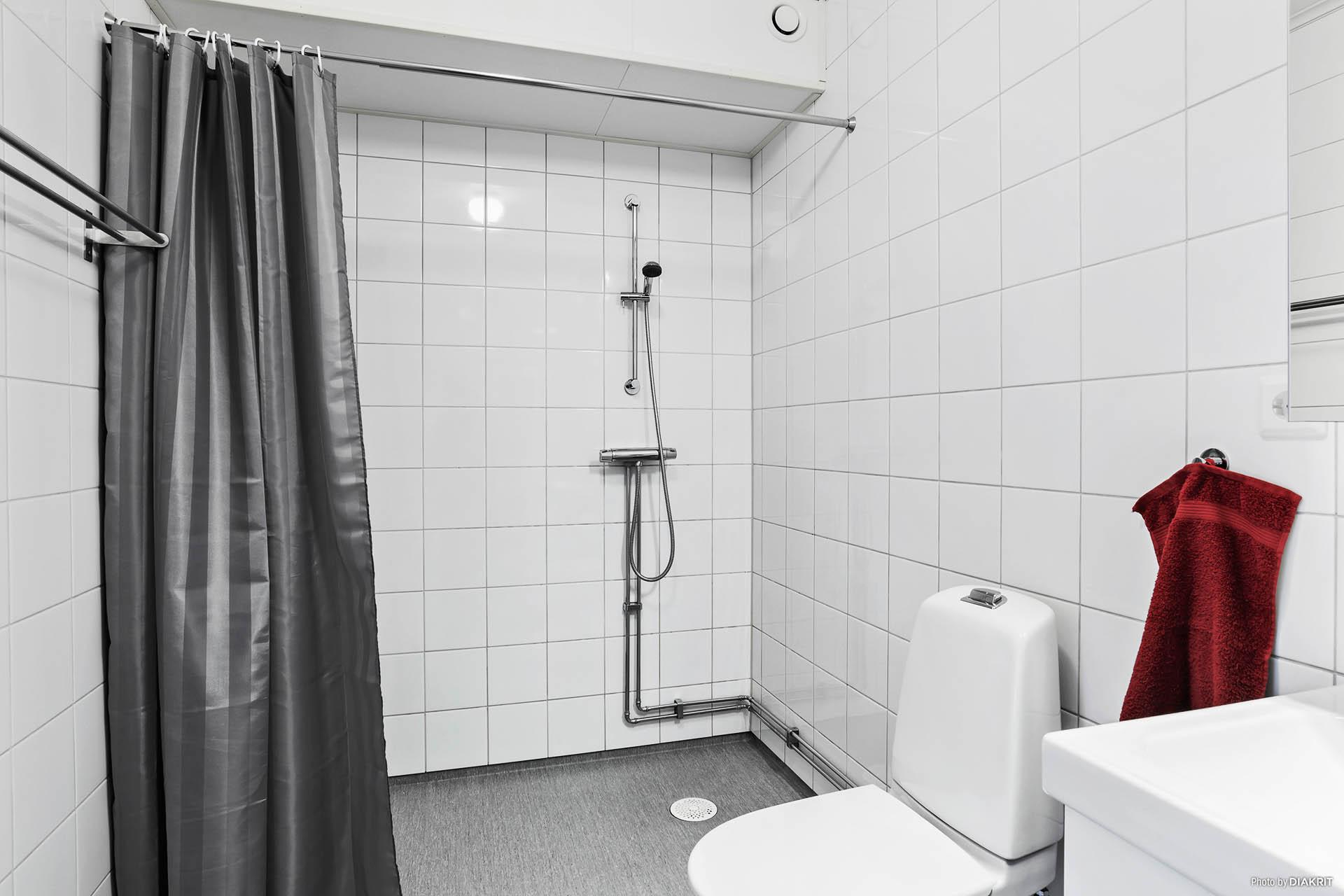Rymlig duschyta