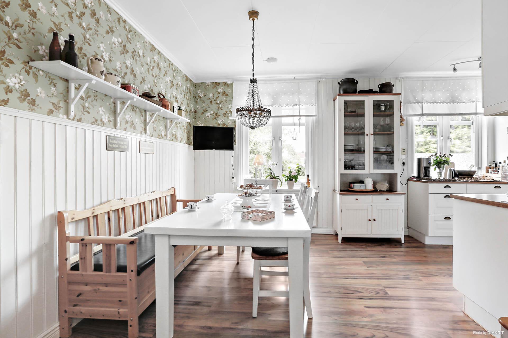 Lägenhet 1: Matplats i kök