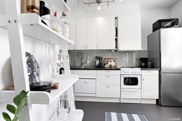 Allrum och kök i öppen planlösning