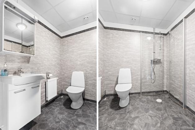 Toalett/dusch renoverat i samband med stambyte 2016