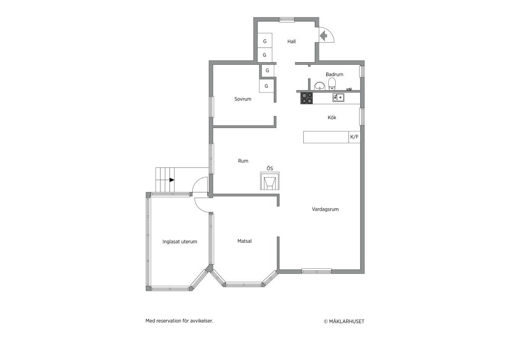 Planlösning bostadshus