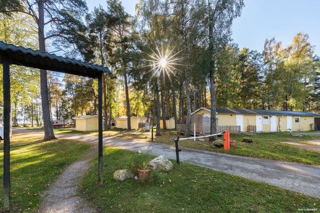Infart till Alholmens camping och bad