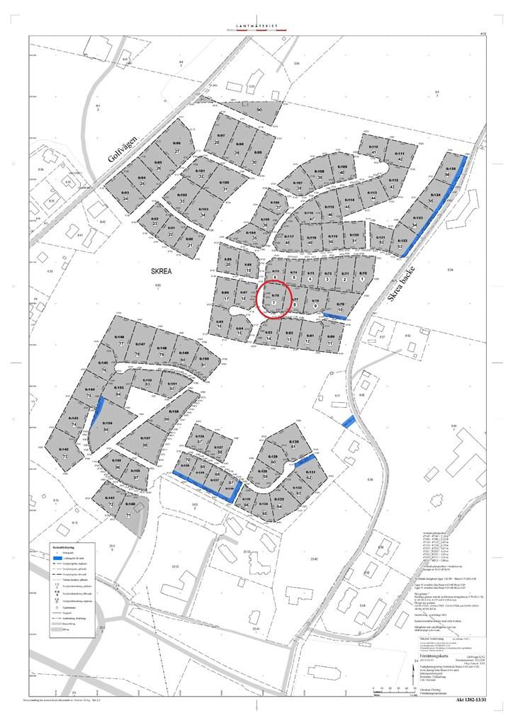 Opphämtarvägen 5 (Kallas även ibland för Brunekullevägen 14) har nr 7 på kartan.