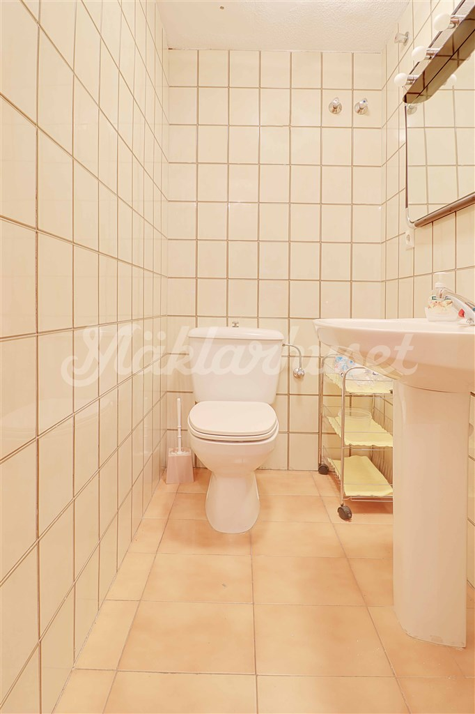 Toalett vid entrén