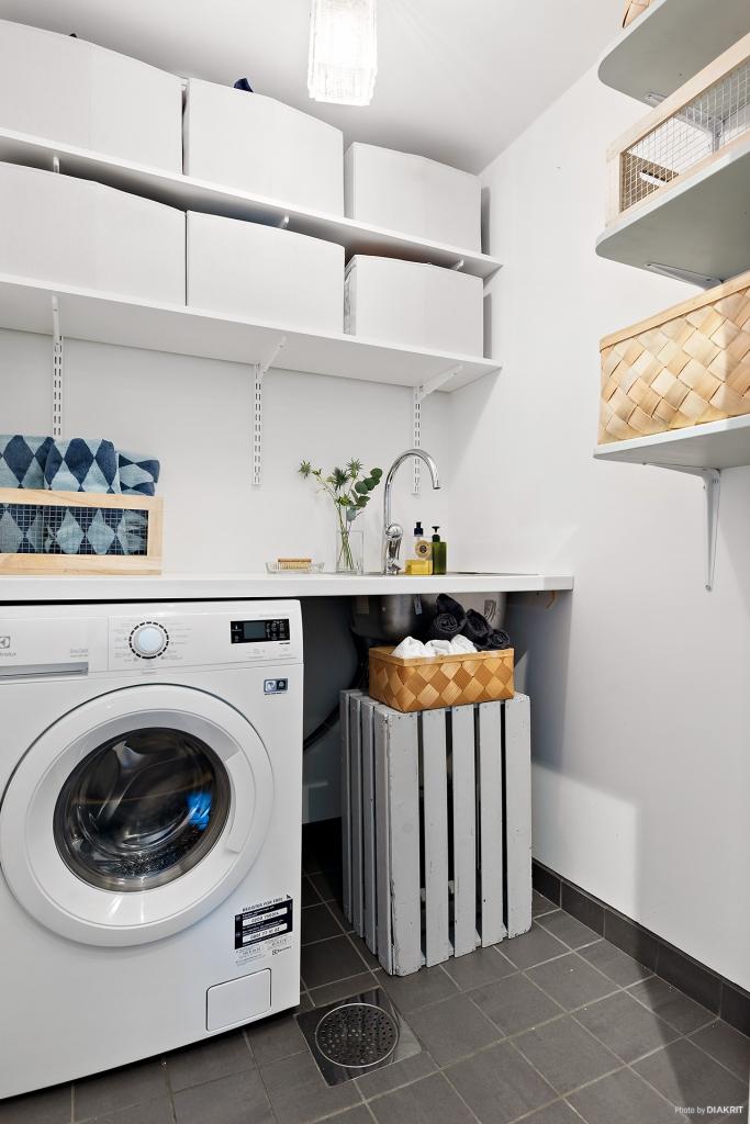 Tvätt- och förvaringsrum