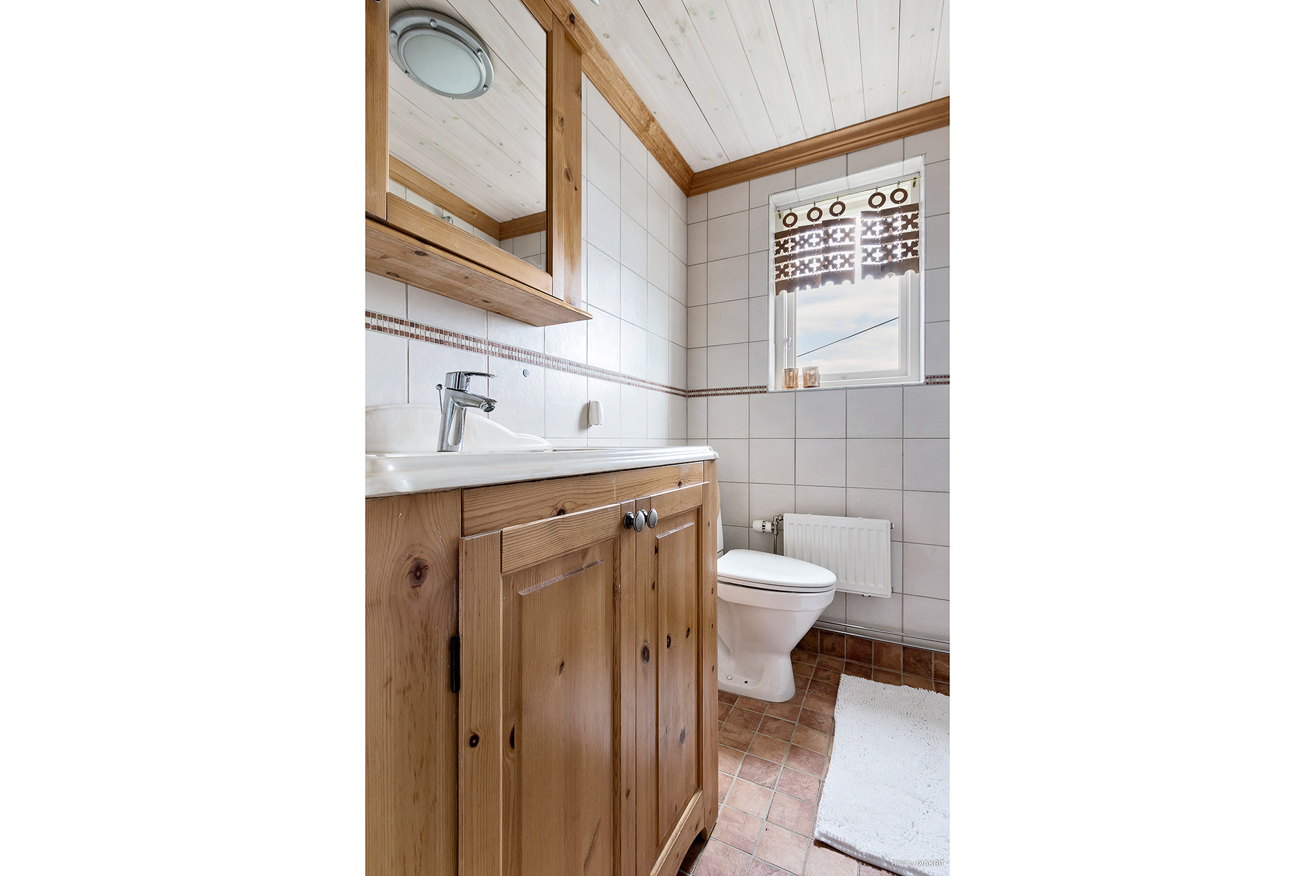 Toalett övre plan.