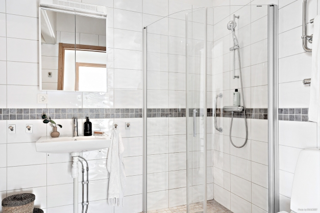 Härligt badrum med