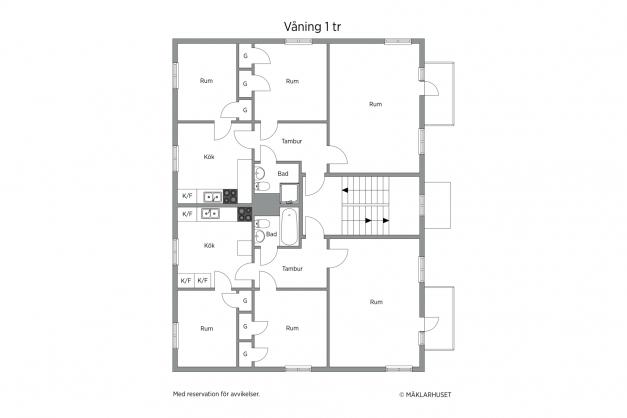 Planlösning våning 1