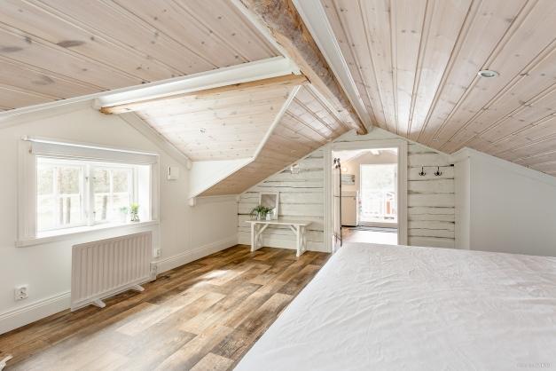 Sovrum på loft
