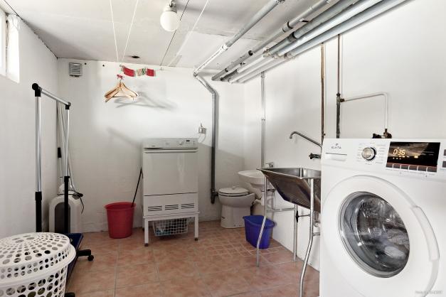 Tvättstuga på källarplan
