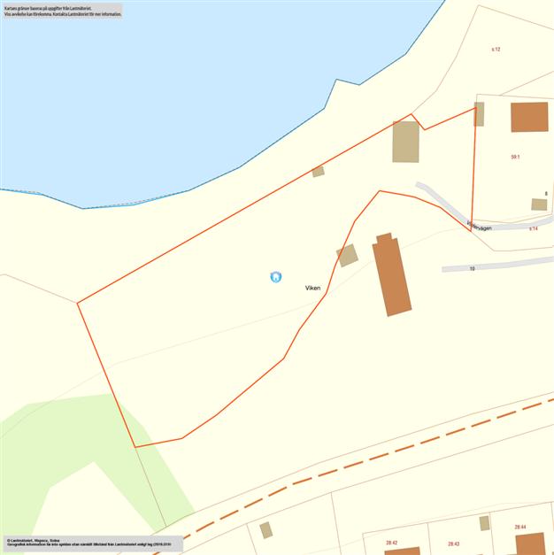 Fastighetskarta som visar Håstad 28:19, 28:18 säljs också