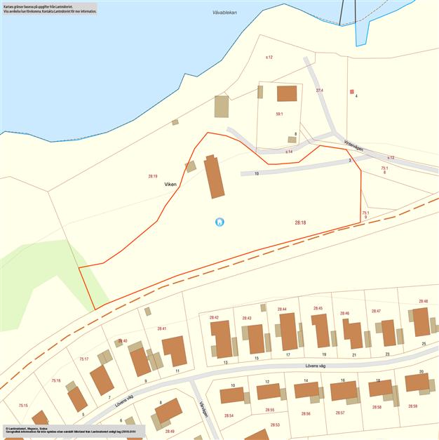 Fastighetskarta som visar Håstad 28:18, 28:19 säljs också