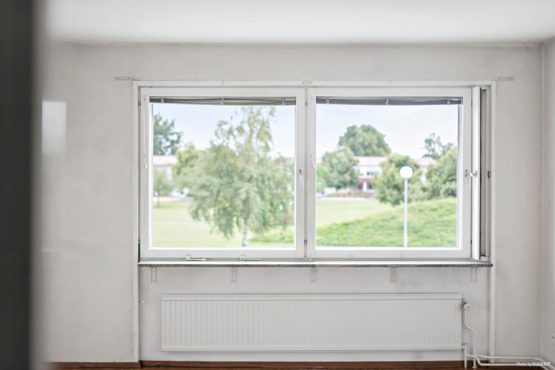 Vackert fönsterparti med härlig utsikt.