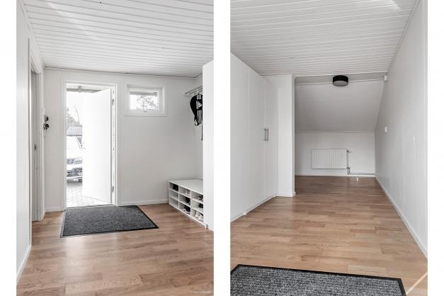 Hall och kanske sovrum, perfekt för tonåringen eller om man vill ha kontor hemma