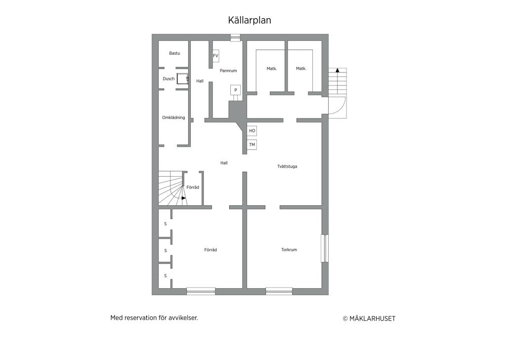 Planlösning källare