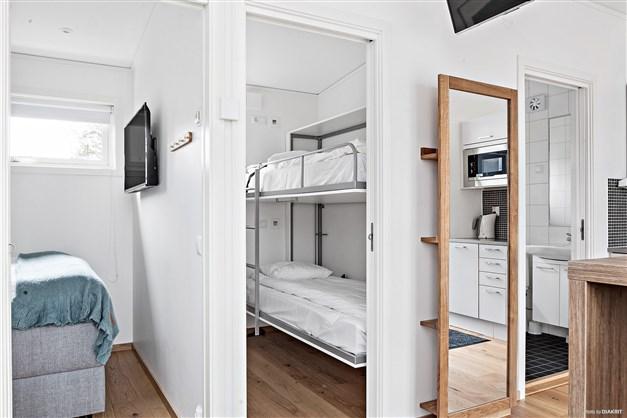 Ingång till sovrum 1 och 2