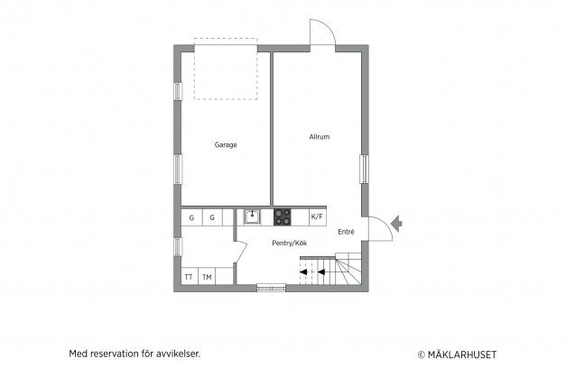 Garage/Gäststuga bottenvåning
