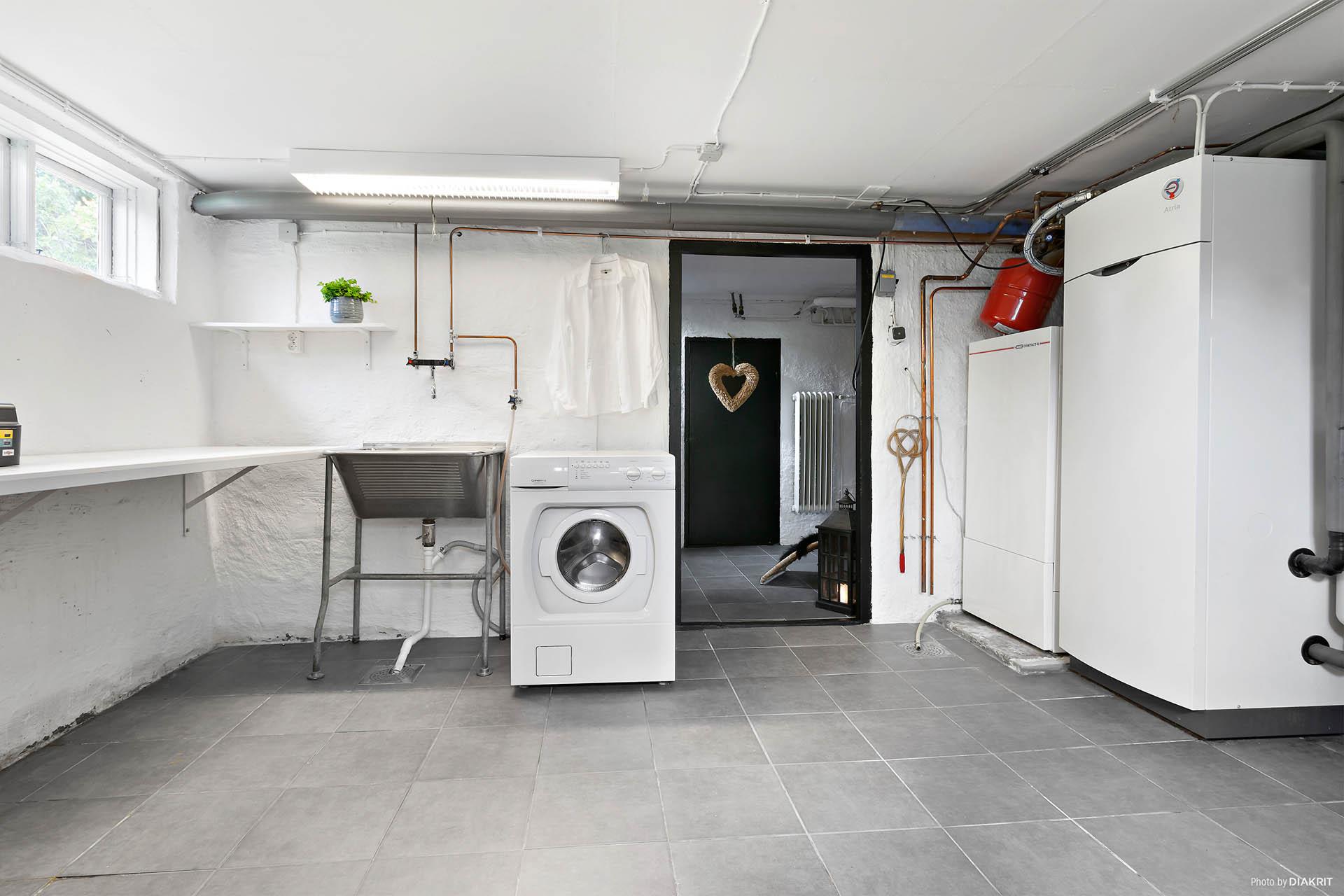 Hobbyrum, pannrum och tvättstuga