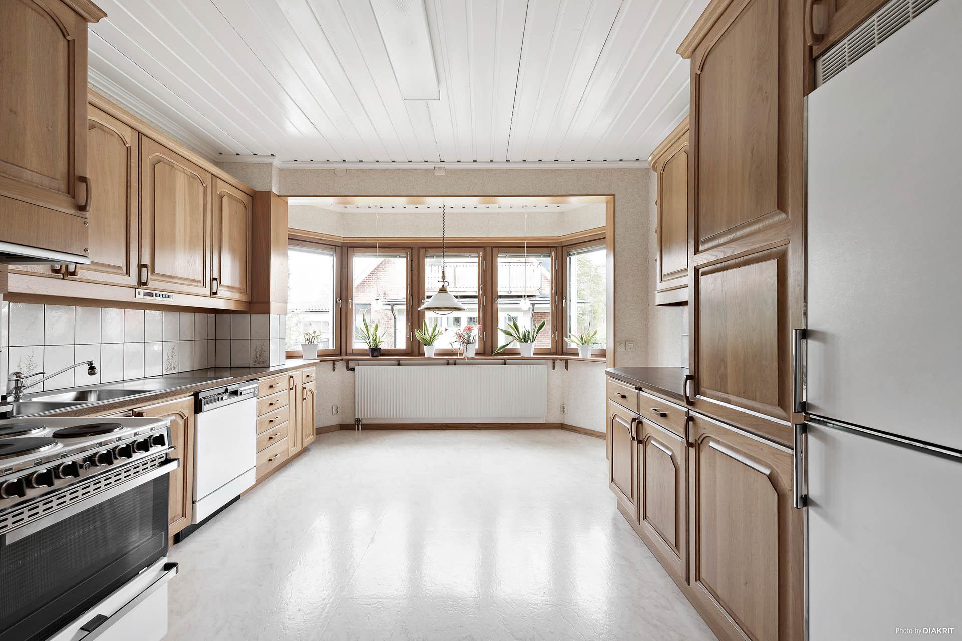 Lägenhet på entréplan:  Kök