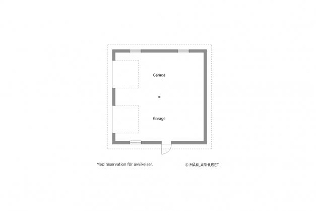Planritning Garage