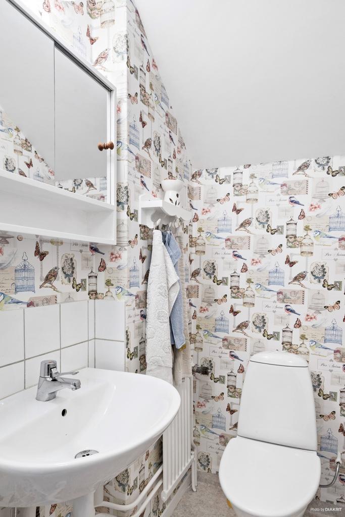 Toaletten på det övre planet