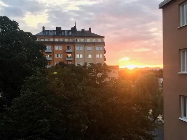 Säljarens bild på solnedgången