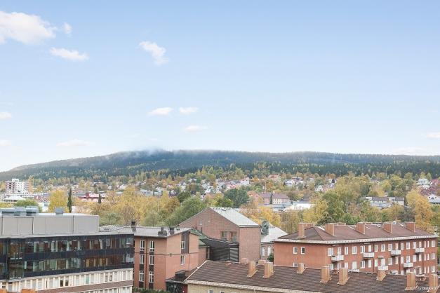 Utsikt från franska balkongen.