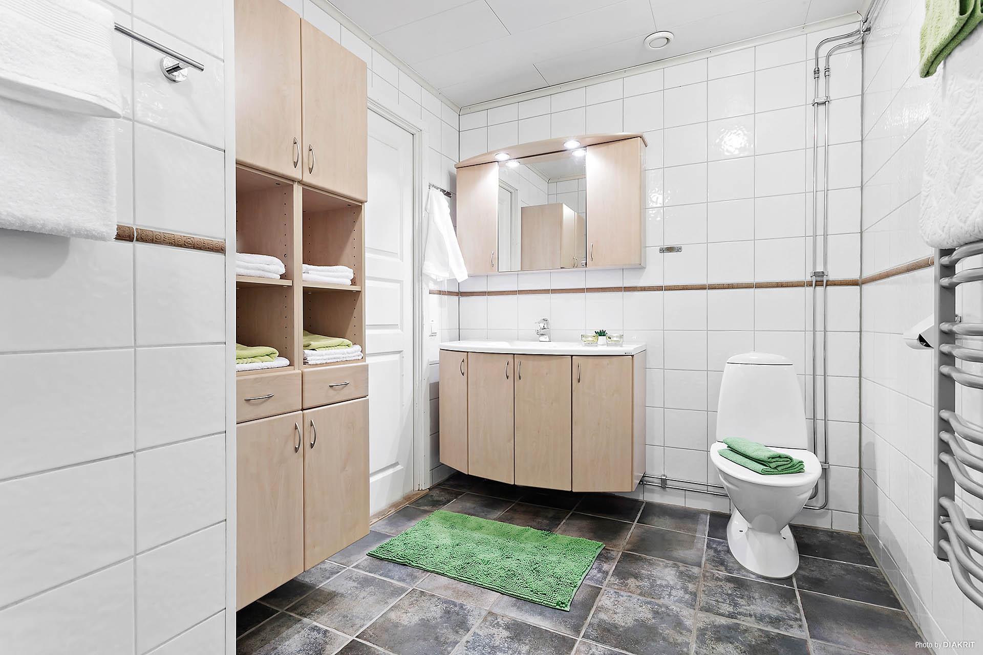 Badrum dusch övre plan