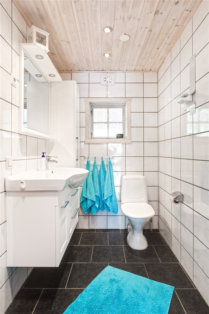 Ljus wc/dusch med bastu.