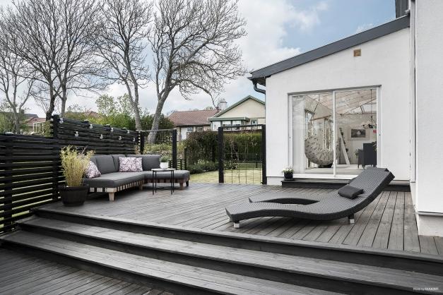 Ljuvliga terrasser i olika väderstreck.