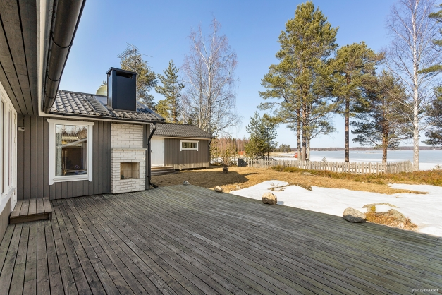 Altan med öppen spis! Utsikt över Björköfjärden