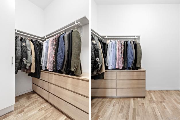 Walk in closet som även passar perfekt som extra rum, kontor eller barnrum. Perfekt att bygga loft!