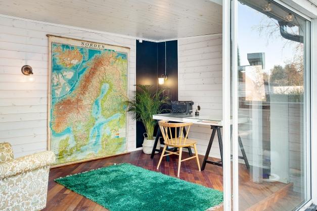 Separat relaxrum /kontor med luftvärmepump
