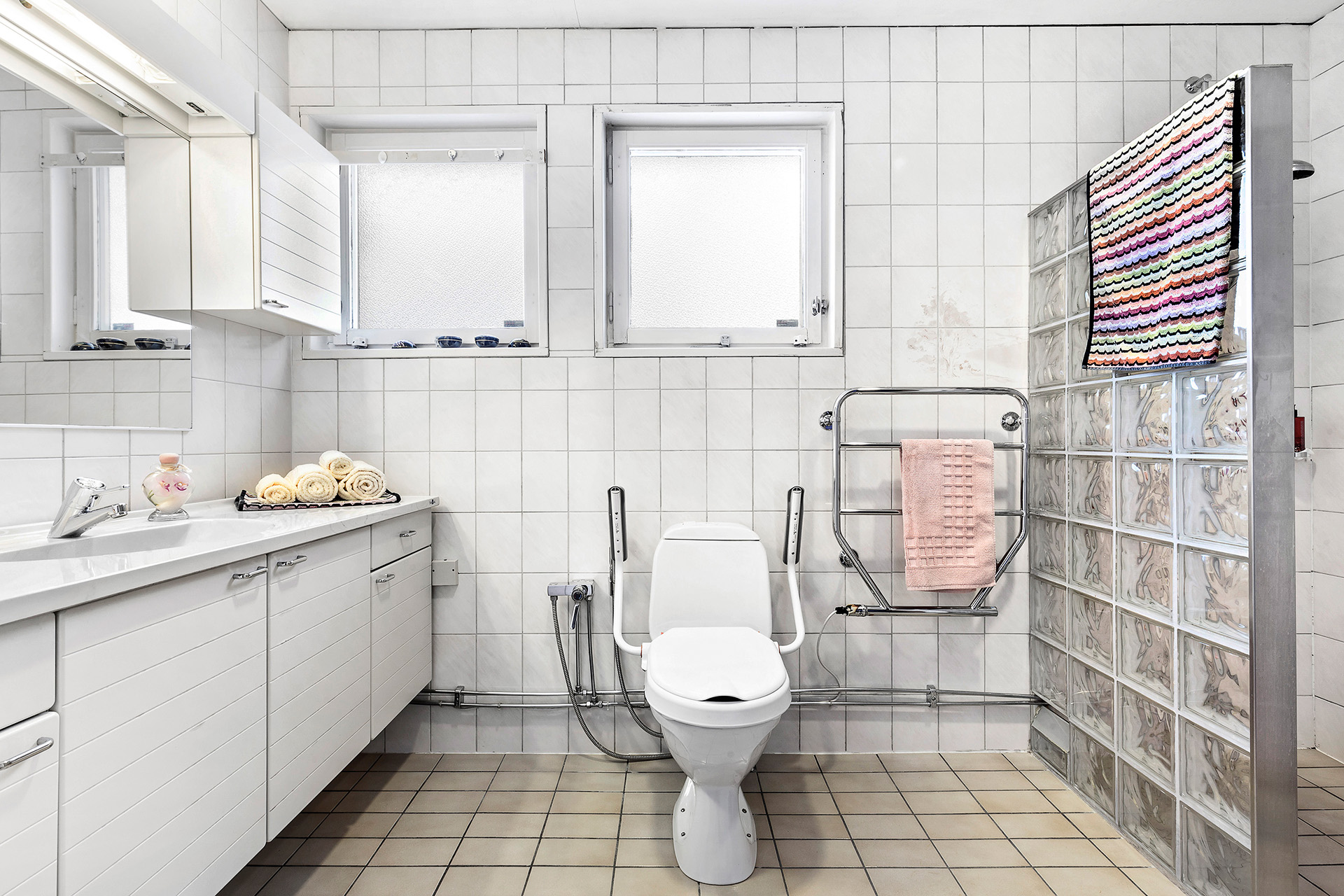 Duschrum med bastu