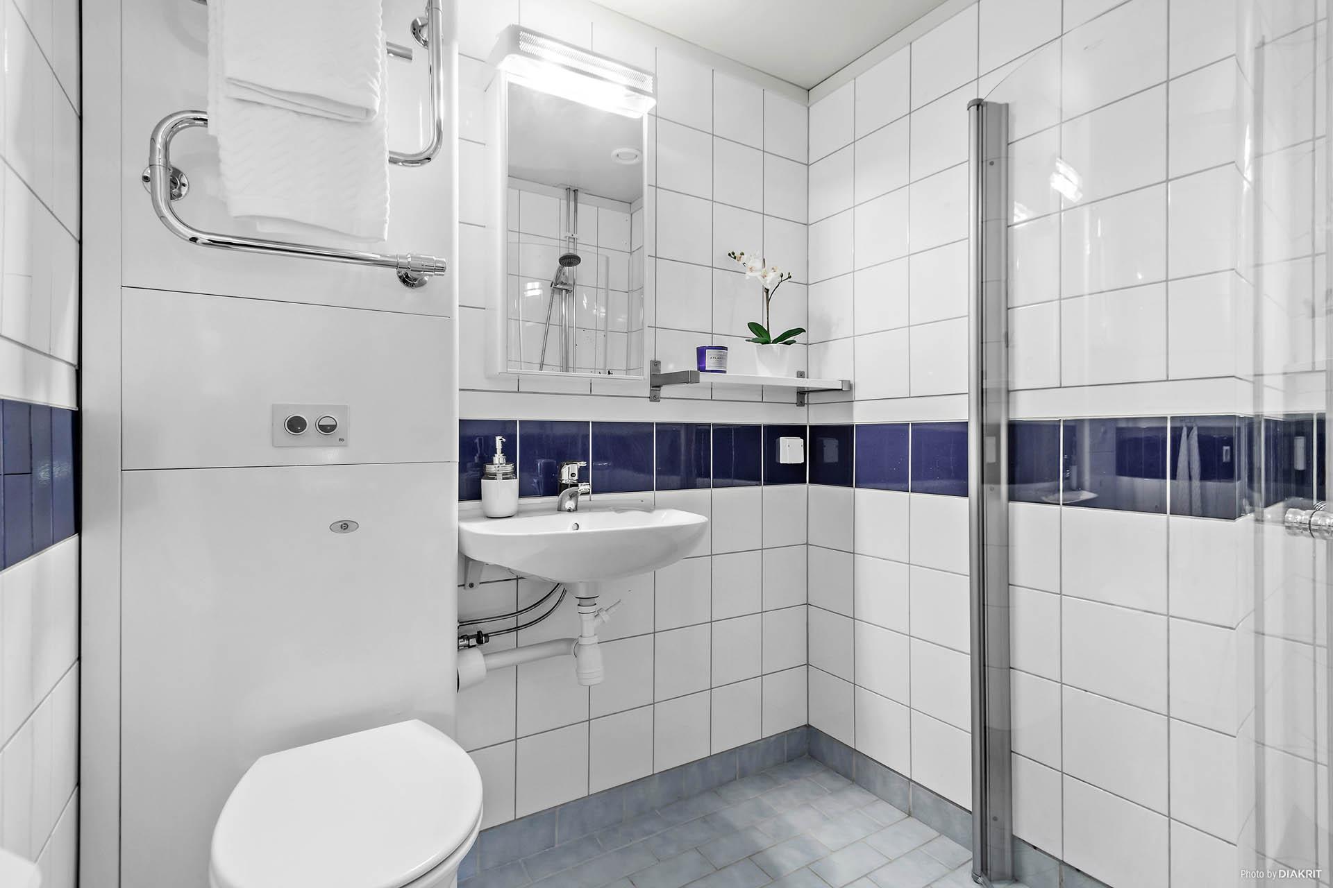 Helkaklat och stambytt badrum