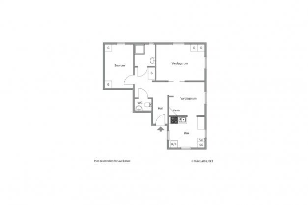 Lägenhet nr 2 (våning 1)