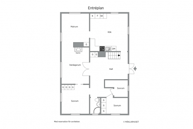 Lägenhet nr 1 (entréplan)