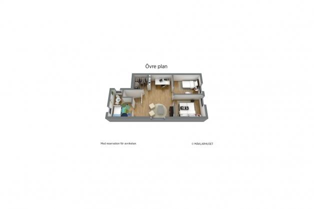 Planskiss 3D Övre plan