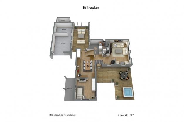Planskiss 3d Entréplan