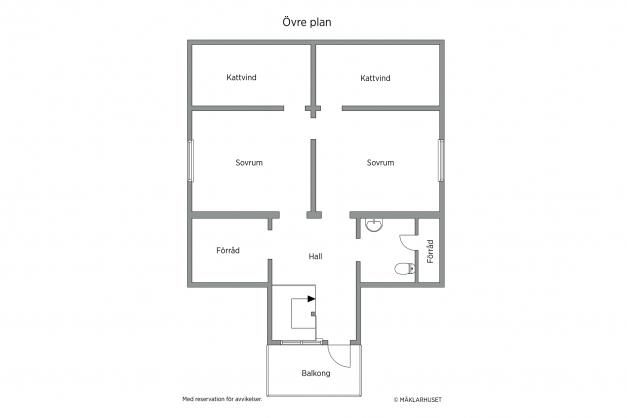 Planskiss - Övre plan