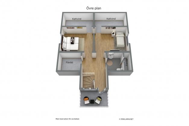 3D Planskiss - Övre plan