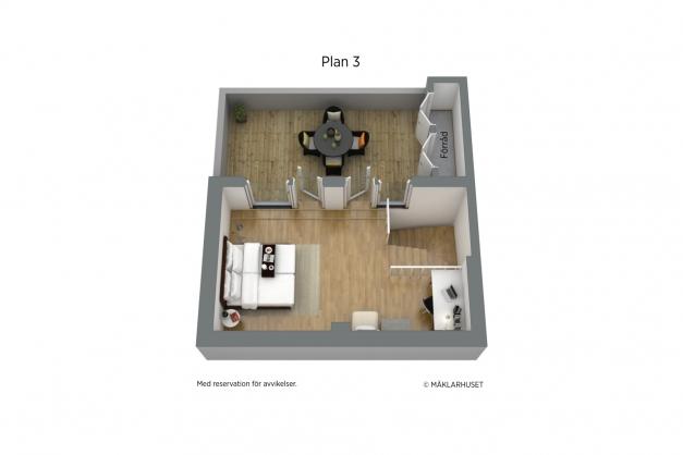 Planskiss plan 3 - 3d