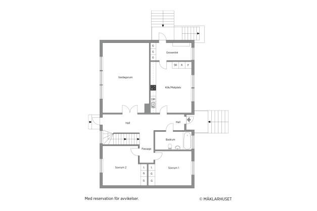 Planlösning bottenvåning