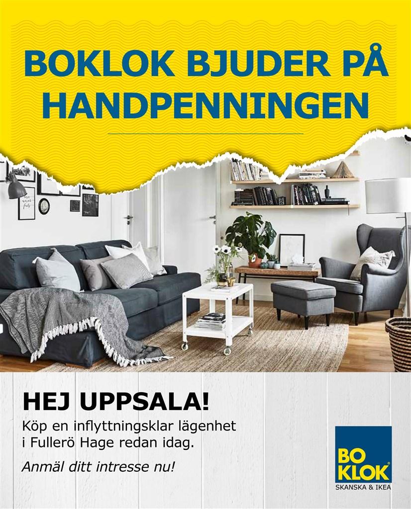 BoKlok bjuder på handpenningen! Tecknar du ett avtal för en lägenhet i BoKlok Saturnus, bjuder BoKlok dig på handpenningen*, erbjudandet gäller till och med den 31 mars 2020.   *10% av köpeskillingen