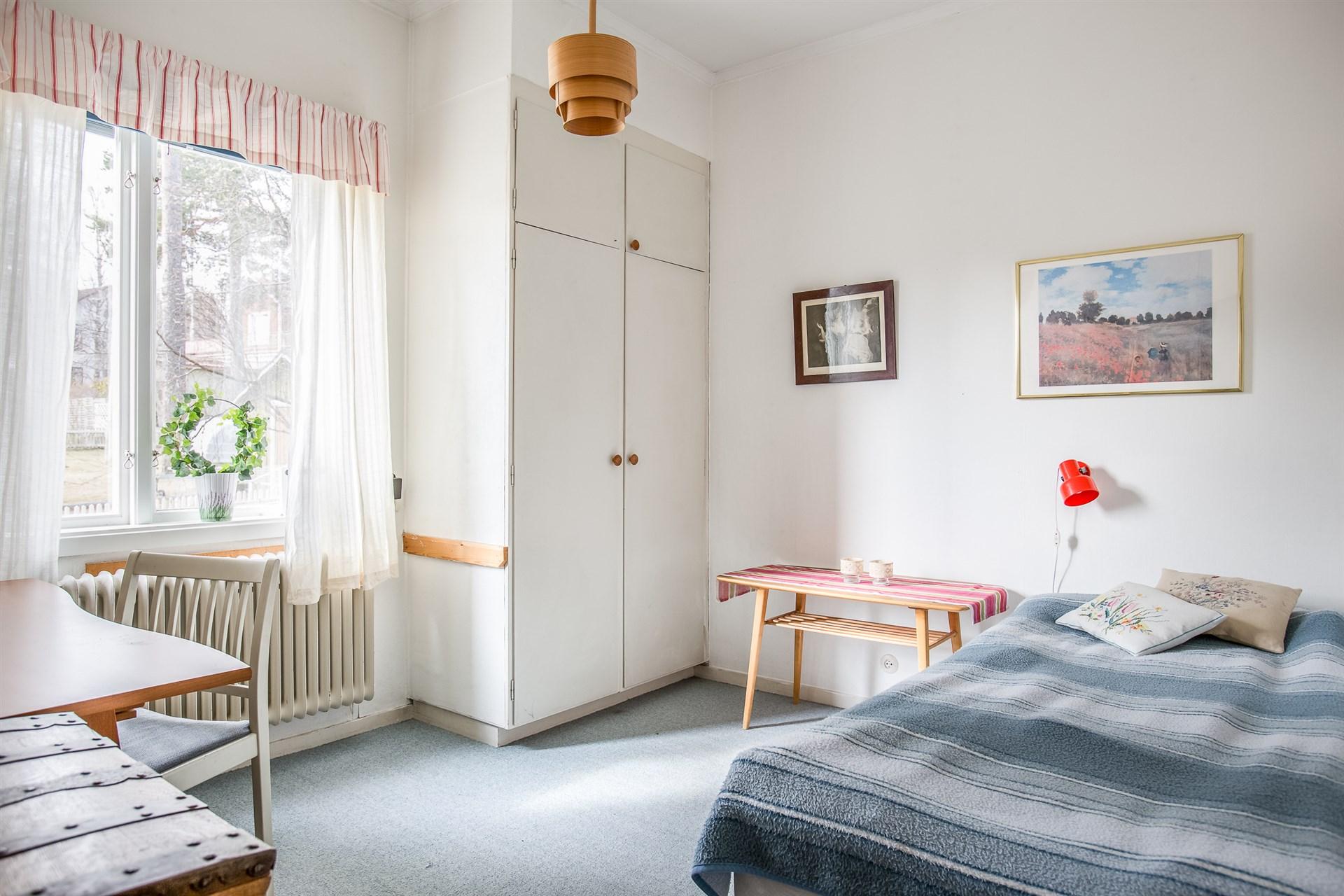 Sovrum på entrévåningen
