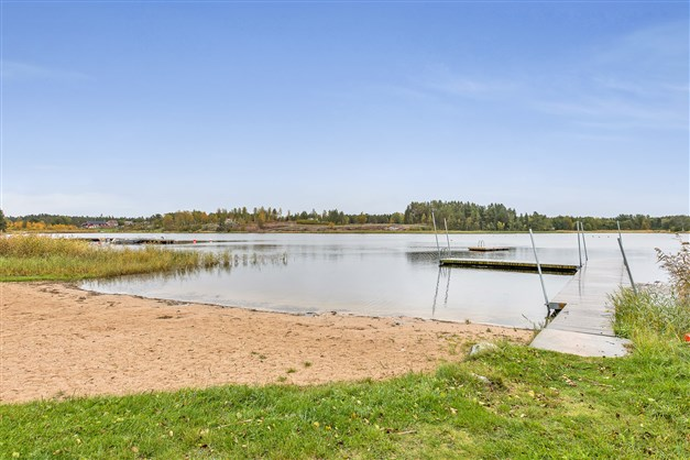 Badplats vid infjärden - Sjö
