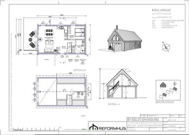 Planritning Hus A och D