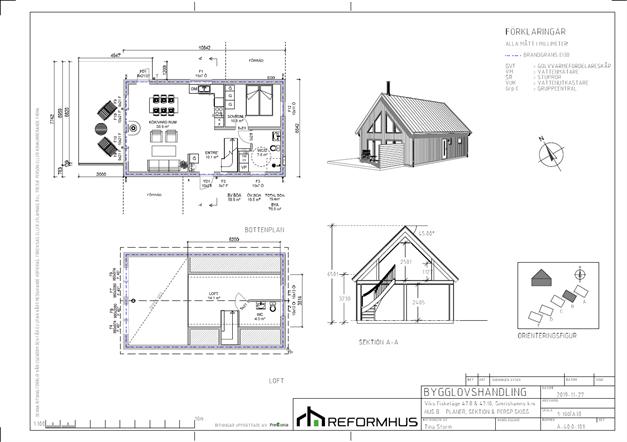 Planritning Hus B