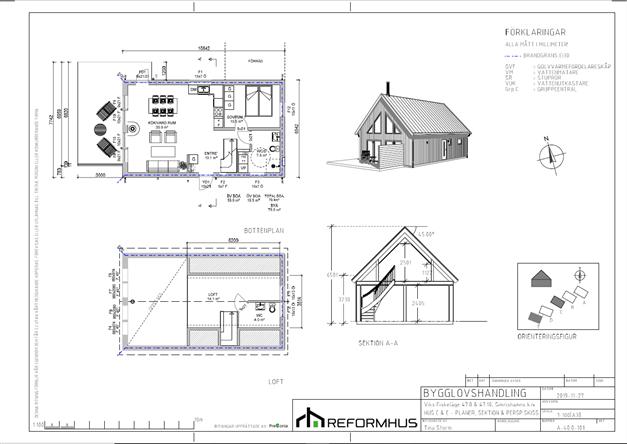 Planritning Hus C och E